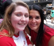 ANGIE HARMON With a Fan - Unknown Event (2012) (1 Pic)